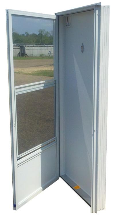 32x80 Aluminum Door with Peephole RH