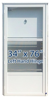 34x76 Aluminum Solid Door with Peephole LH for Mobile Home Manufactured Housing