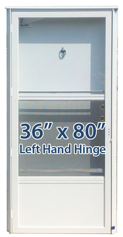 36x80 Aluminum Solid Door With Peephole Lh For Mobile Home