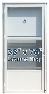 38x76 Aluminum Solid Door with Peephole LH for Mobile Home Manufactured Housing