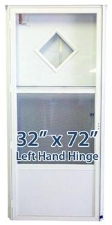 32x72 diamond door lh for mobile home manufactured housing - 32x80 exterior door rough opening ...