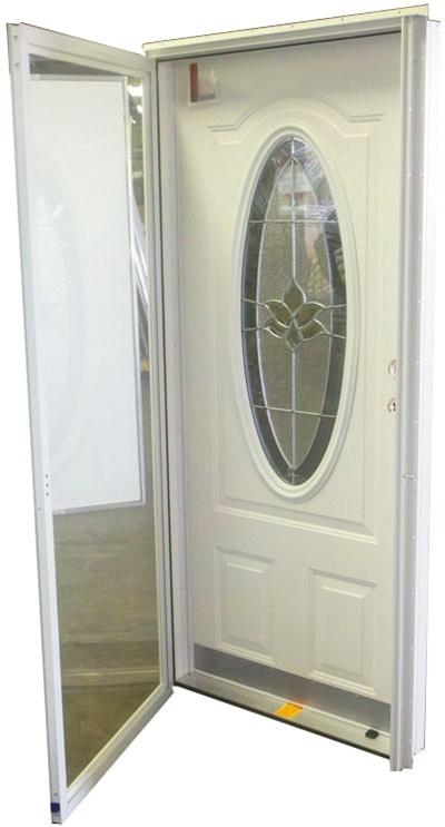 36x76 3/4 Oval Glass Door RH