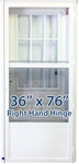 36x76 Cottage Door RH for Mobile Home Manufactured Housing