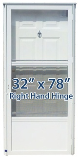32x78 Steel Solid Door With Peephole Rh For Mobile Home
