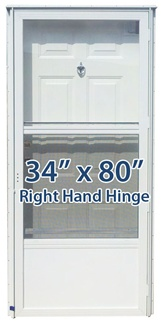 34x80 Steel Solid Door with Peephole RH for Mobile Home Manufactured Housing