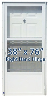 38x76 Steel Solid Door with Peephole RH for Mobile Home Manufactured Housing