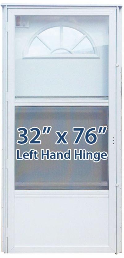 32x76 Aluminum Door Fan Window Lh For Mobile Home