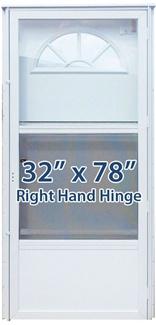 32x78 Aluminum Door Fan Window Rh For Mobile Home
