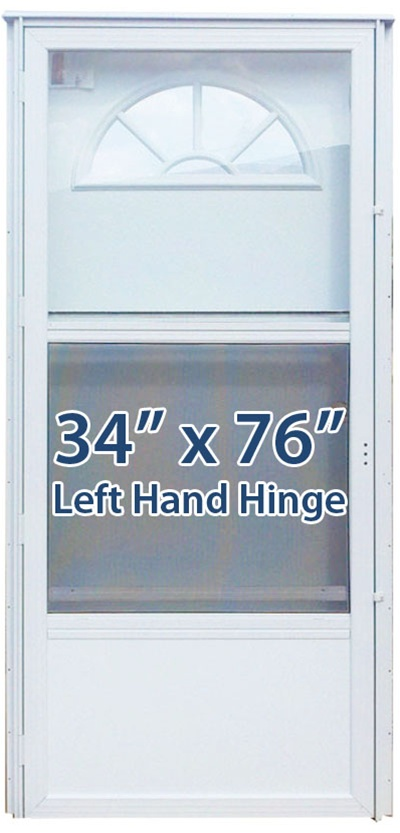 34x76 aluminum door fan window lh for mobile home - Mobile home combination exterior doors ...