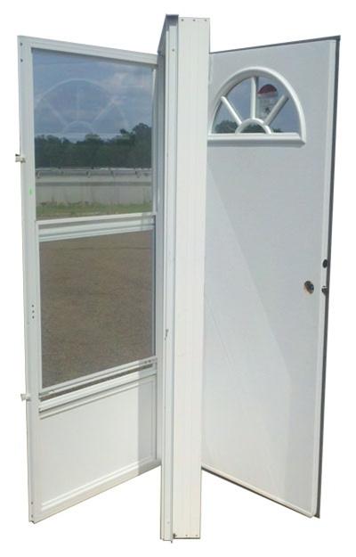 34x76 aluminum door fan window rh for mobile home manufactured housing