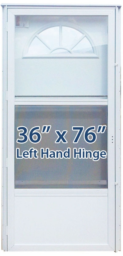 36x76 Aluminum Door Fan Window Lh For Mobile Home