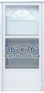 36x76 Aluminum Door Fan Window Rh For Mobile Home