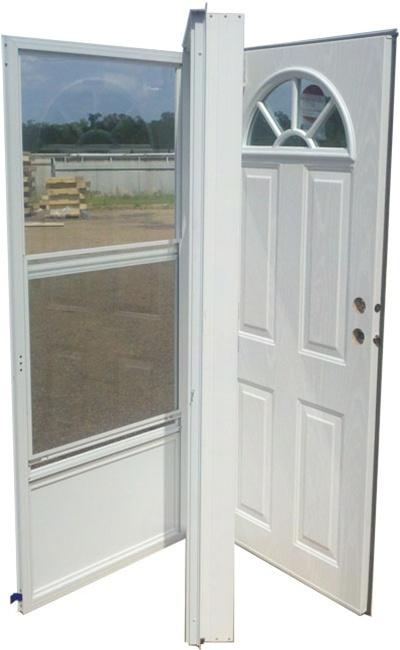32x80 Steel Door Fan Window LH