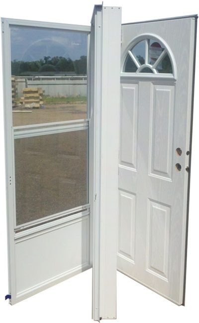 36x80 steel door fan window lh for mobile home for House door window replacement