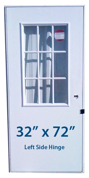 Mobile Home Cottage Door 32x72 Lh Left Hand Hinge Doors With Window