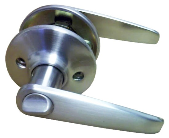 Attirant Satin Nickel Lever Privacy Door Knob