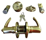 Brass Combination Lever Lock Set
