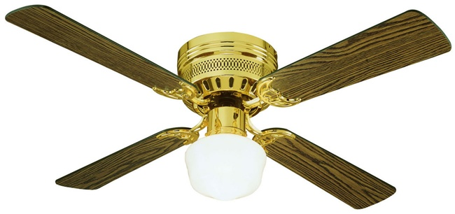 Homestead Ceiling Fan Brass With Opal Glass 42 Quot