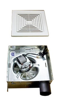 Ceiling Mount Exhaust Fan w/ Side Exhaust