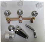 3 Valve Tub/Shower Faucet