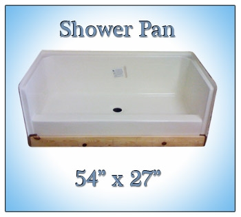 Replace Tub With Shower Pan.54x27 Fiberglass Replacement Shower Pan
