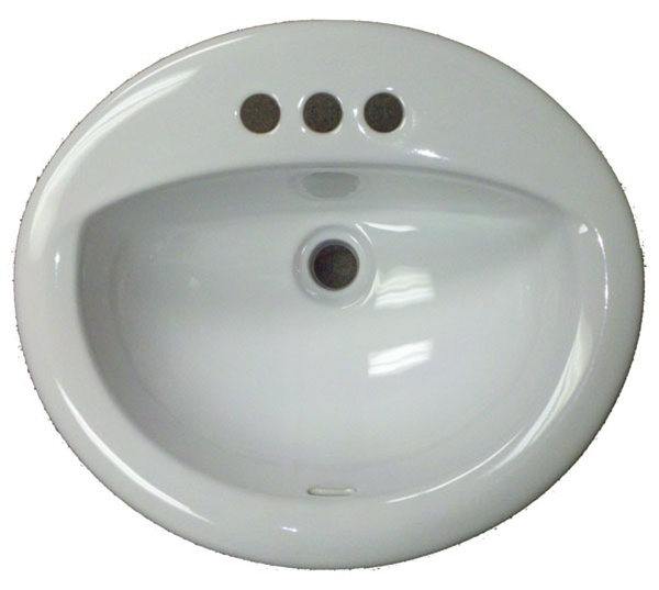 Home Manufactured Housing 17 X 20 Oval White Ceramic Sink