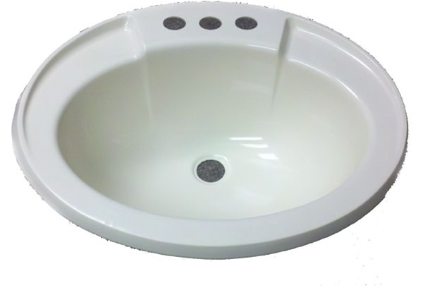 17 X 20 Oval Bone Plastic Sink For