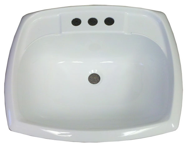 17 X 20 Rectangle White Plastic Sink