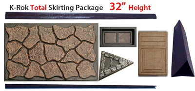 "K-Rok Entire House Skirting Package - 32"" Total"