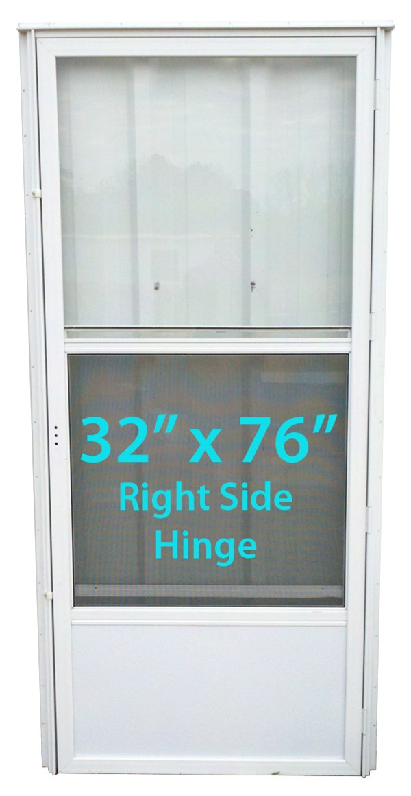 Mobile Home Standard Storm Door 32x76 Rh White With Screen