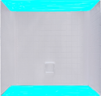 54x27 One piece ABS Tile Tub/Shower Surround