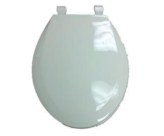 "12"" Plastic Toilet Seat Almond for Mobile Home Manufactured Housing"